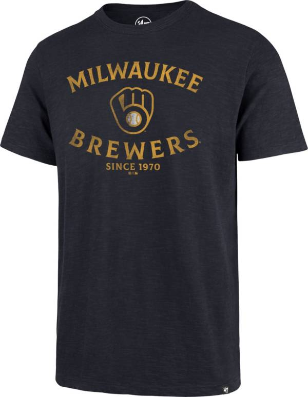 '47 Men's Milwaukee Brewers Navy Scrum T-Shirt product image