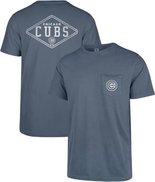 '47 Men's Chicago Cubs Blue Hudson Pocket T-Shirt product image