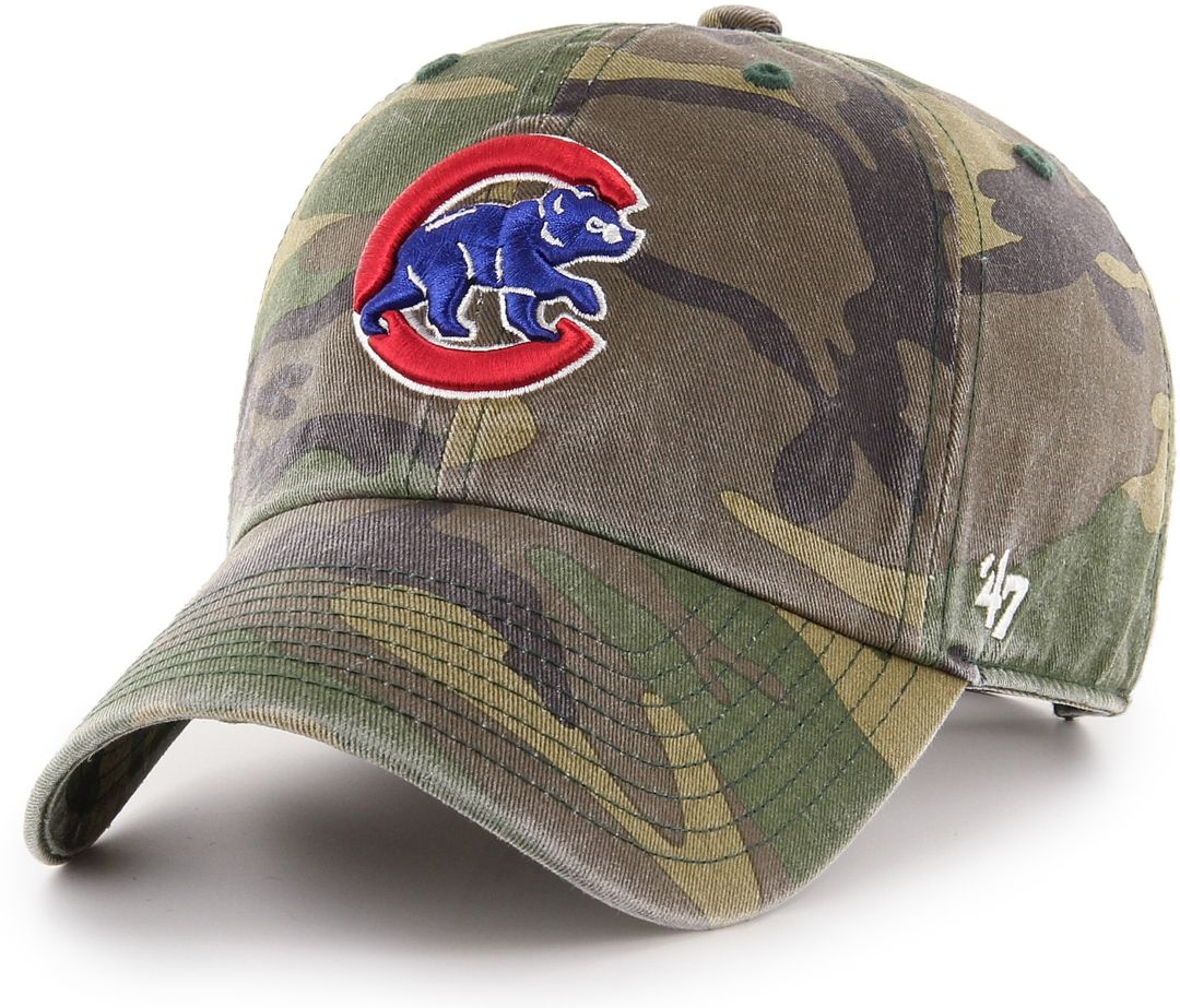 online store b0a95 0c16b 47 Men s Chicago Cubs Camo Clean Up Adjustable Hat   DICK S Sporting ...