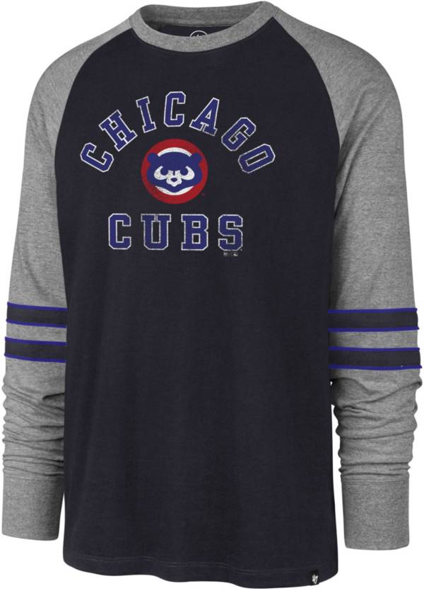 '47 Men's Chicago Cubs Navy Wind-up Raglan Long Sleeve Shirt product image