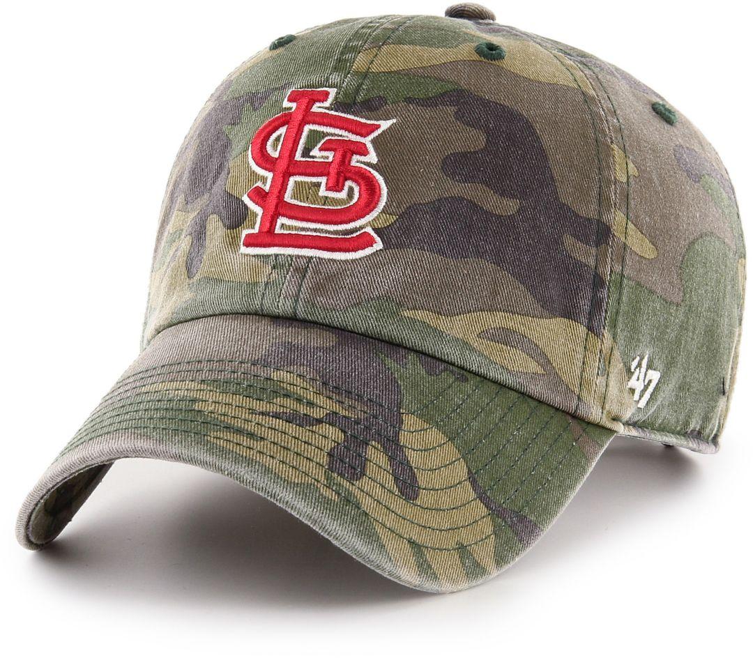 best sneakers 5867f f7ade  47 Men s St. Louis Cardinals Camo Clean Up Adjustable Hat. noImageFound.  Previous