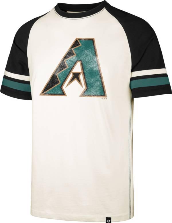 '47 Men's Arizona Diamondbacks Cream Cooperstown Tri-Blend Raglan T-Shirt product image