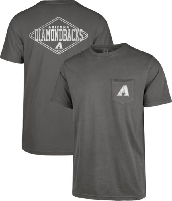 '47 Men's Arizona Diamondbacks Grey Hudson Pocket T-Shirt product image
