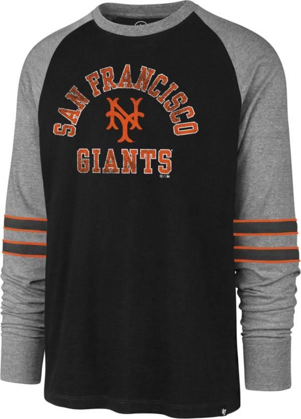 '47 Men's San Francisco Giants Black Wind-up Raglan Long Sleeve Shirt product image