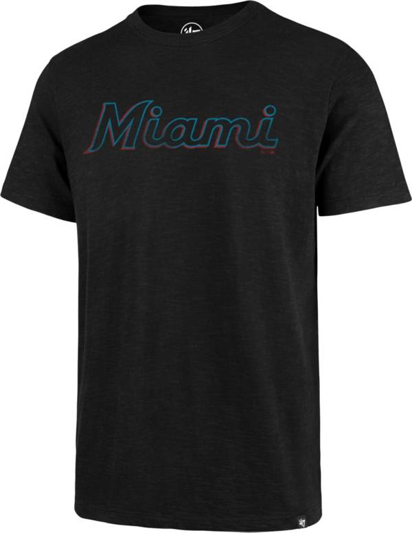 '47 Men's Miami Marlins Black Scrum T-Shirt product image