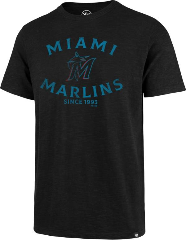 '47 Men's Miami Marlins Black Scrum T-Shirt product image