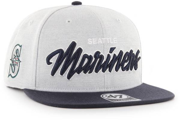 '47 Men's Seattle Mariners Street Script Captain Adjustable Snapback Hat product image