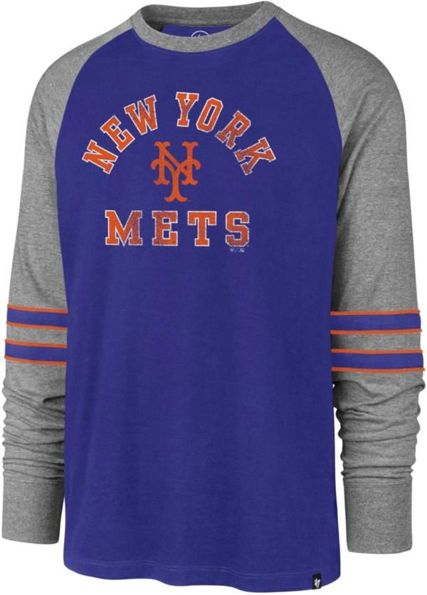 '47 Men's New York Mets Royal Wind-up Raglan Long Sleeve Shirt product image