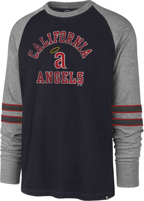 '47 Men's Los Angeles Angels Navy Wind-up Raglan Long Sleeve T-Shirt product image