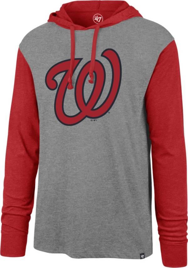 '47 Men's Washington Nationals Grey Callback Sport Fleece Pullover Hoodie product image