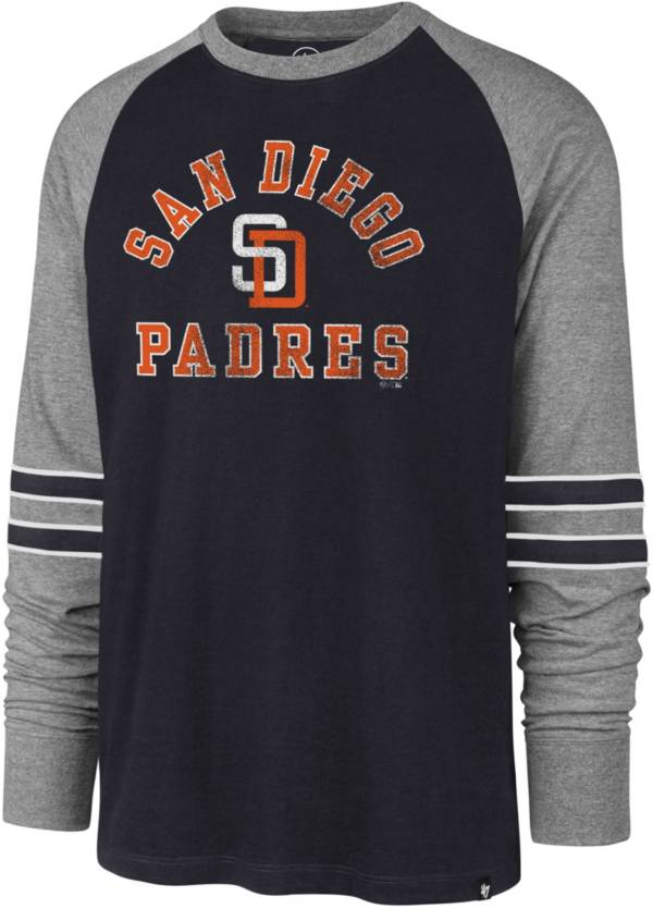 '47 Men's San Diego Padres Navy Wind-up Raglan Long Sleeve Shirt product image
