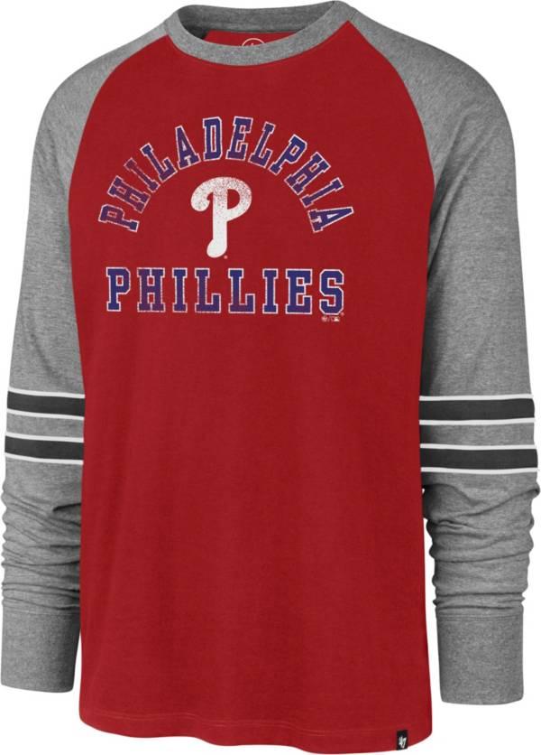 '47 Men's Philadelphia Phillies Red Wind-up Raglan Long Sleeve T-Shirt product image