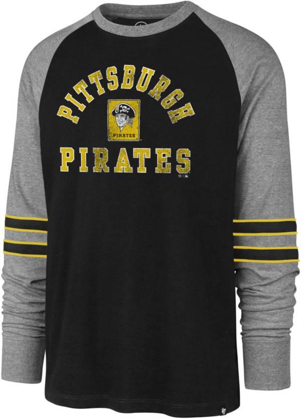 '47 Men's Pittsburgh Pirates Black Wind-up Raglan Long Sleeve Shirt product image