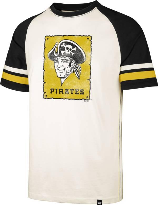 '47 Men's Pittsburgh Pirates Cream Cooperstown Tri-Blend Raglan T-Shirt product image