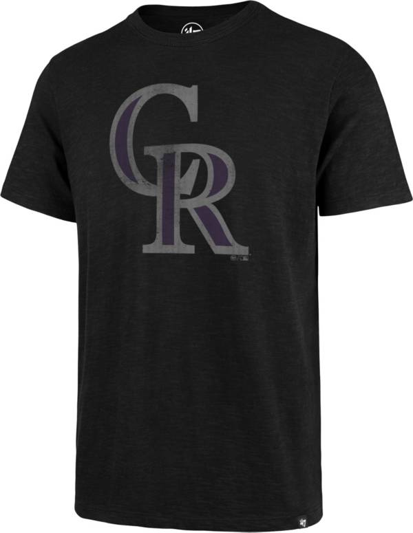 '47 Men's Colorado Rockies Black Scrum T-Shirt product image