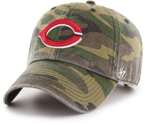 64492973113dc  47 Men s Cincinnati Reds Camo Clean Up Adjustable Hat. noImageFound.  Previous