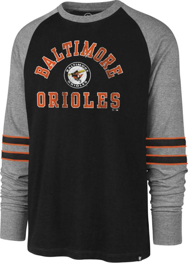 '47 Men's Baltimore Orioles Black Wind-up Raglan Long Sleeve Shirt product image