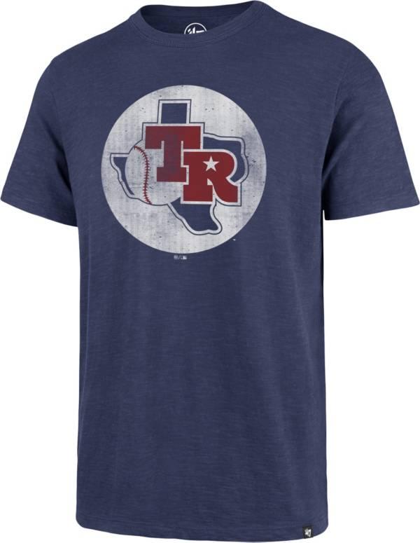'47 Men's Texas Rangers Blue Scrum T-Shirt product image