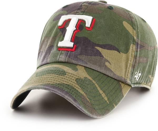 '47 Men's Texas Rangers Camo Clean Up Adjustable Hat product image