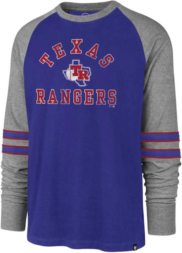 '47 Men's Texas Rangers Royal Wind-up Raglan Long Sleeve T-Shirt product image