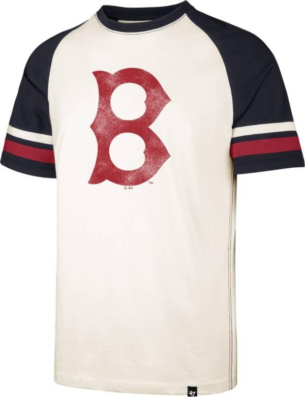 '47 Men's Boston Red Sox Cream Cooperstown Tri-Blend Raglan T-Shirt product image