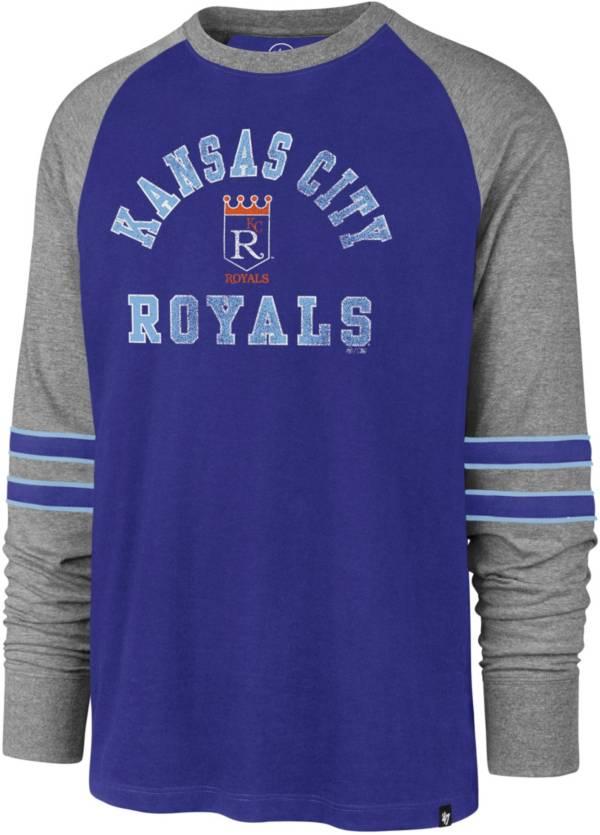 '47 Men's Kansas City Royals Royal Wind-up Raglan Long Sleeve T-Shirt product image