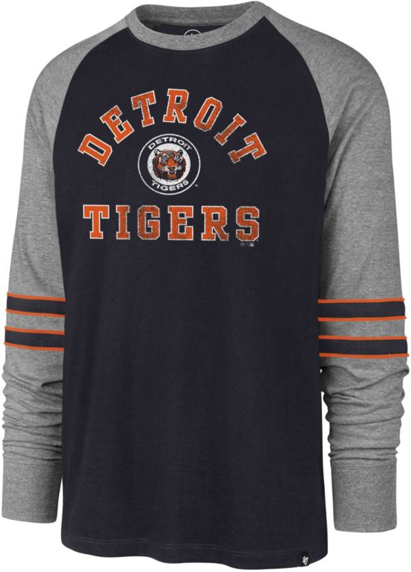 '47 Men's Detroit Tigers Navy Wind-up Raglan Long Sleeve Shirt product image