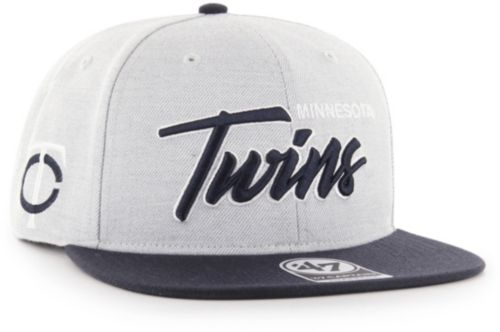 quality design cf72d 1333d ... Minnesota Twins Street Script Captain Adjustable Snapback Hat.  noImageFound. Previous