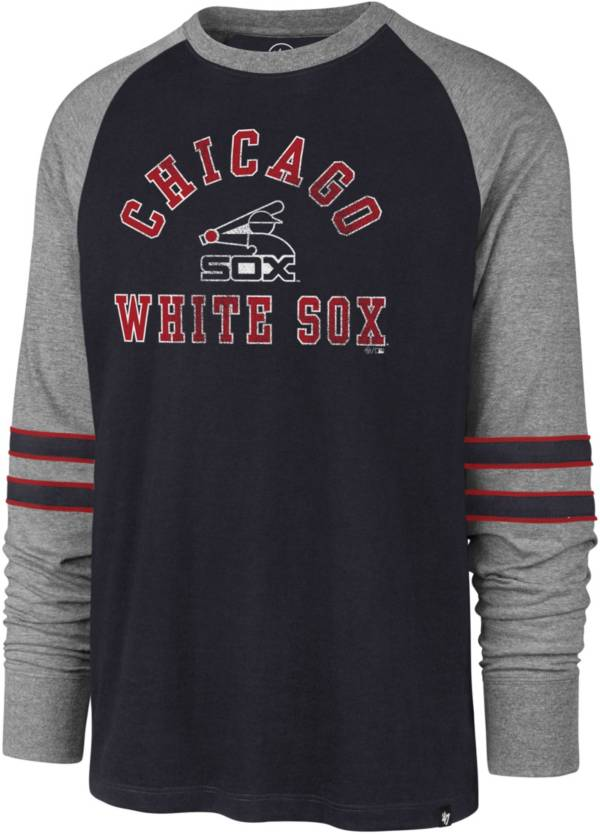 '47 Men's Chicago White Sox Navy Wind-up Raglan Long Sleeve Shirt product image