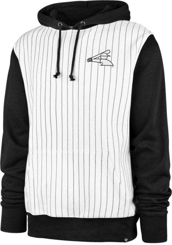 '47 Men's Chicago White Sox White Pinstripe Headline Pullover Hoodie product image
