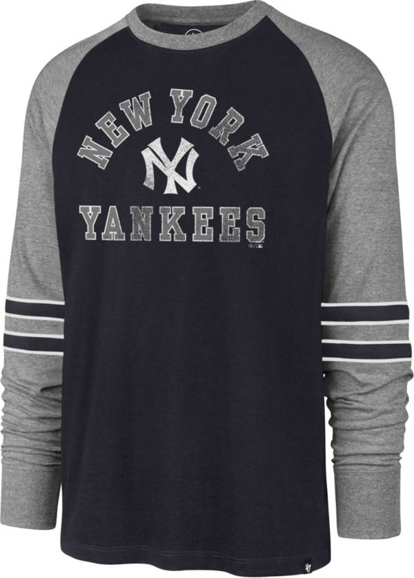 '47 Men's New York Yankees Navy Wind-up Raglan Long Sleeve T-Shirt product image