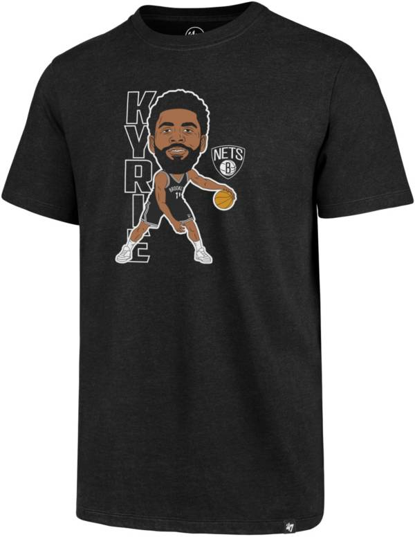 '47 Men's Brooklyn Nets Kyrie Irving Black T-Shirt product image