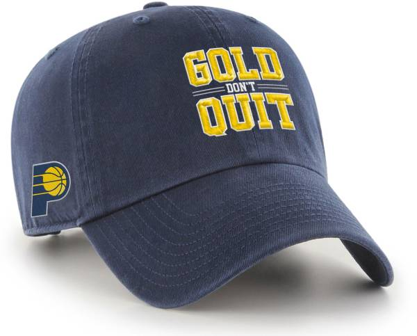 """'47 Men's Indiana Pacers """"Gold Don't Quit"""" Clean Up Adjustable Hat product image"""