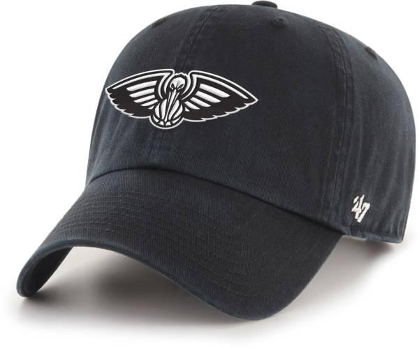 '47 Men's New Orleans Pelicans Black Cleanup Adjustable Hat product image