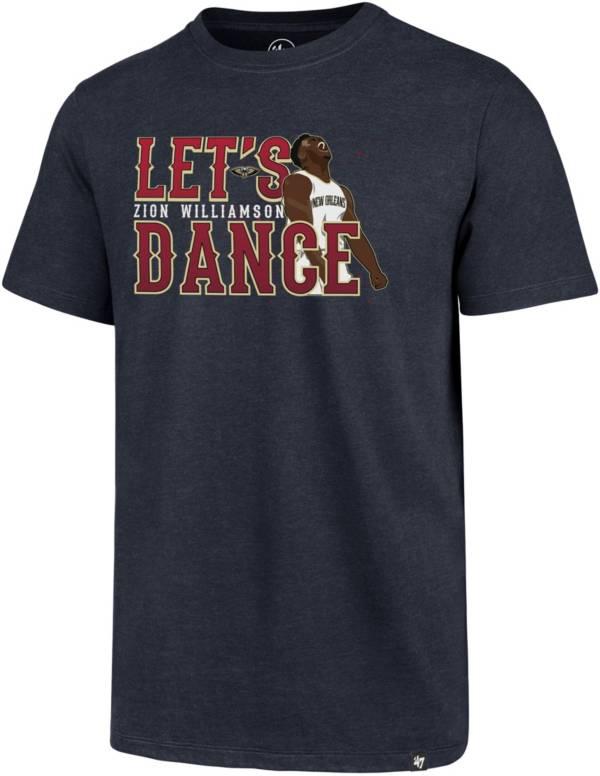 """'47 Men's New Orleans Pelicans Zion Williamson """"Let's Dance"""" Navy T-Shirt product image"""