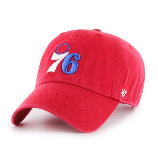 '47 Men's Philadelphia 76ers Red Adjustable Hat product image