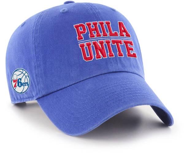 "'47 Men's Philadelphia 76ers ""Phila Unite"" Clean Up Adjustable Hat product image"