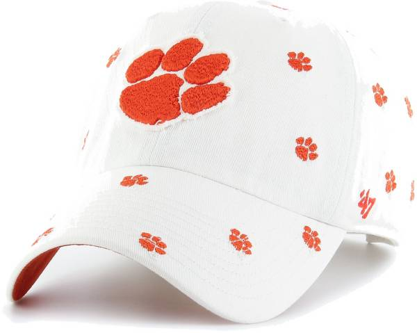 '47 Women's Clemson Tigers Confetti Adjustable White Hat product image