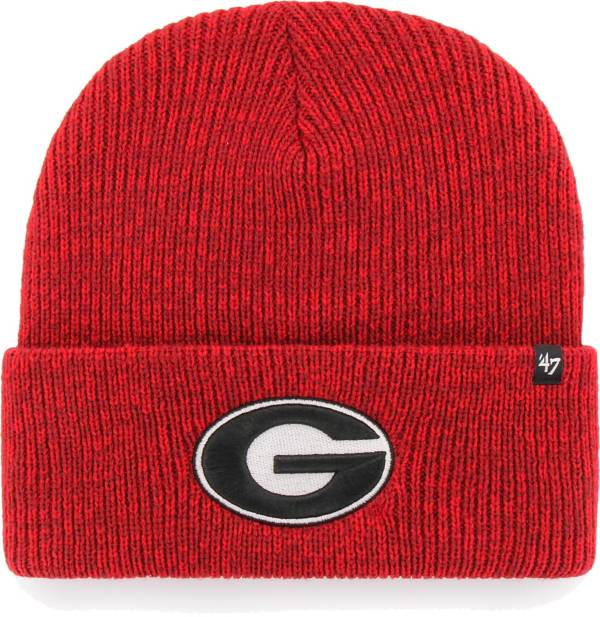 '47 Men's Georgia Bulldogs Red Brain Freeze Cuffed Knit Beanie product image