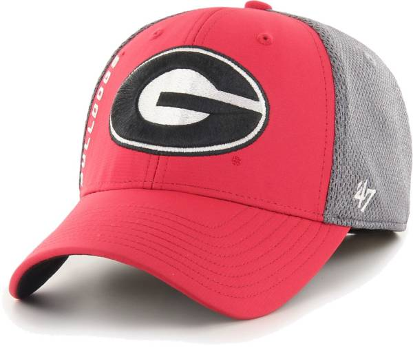 '47 Men's Georgia Bulldogs Red/Grey Wycliff Flexfit Hat product image