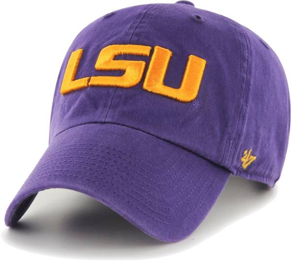 '47 Men's LSU Tigers Purple Clean Up Adjustable Hat product image