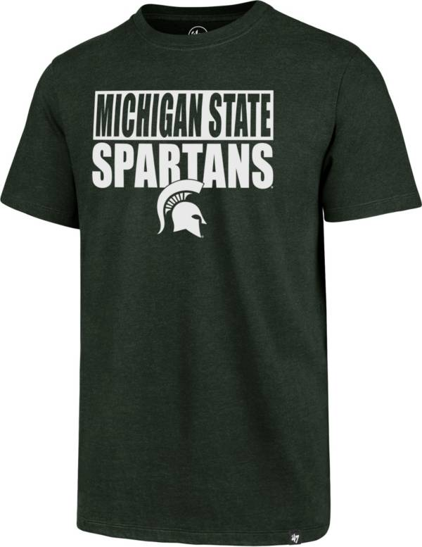 '47 Men's Michigan State Spartans Green Blockout Club T-Shirt product image