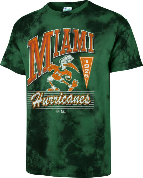 '47 Men's Miami Hurricanes Green Touchdown T-Shirt product image