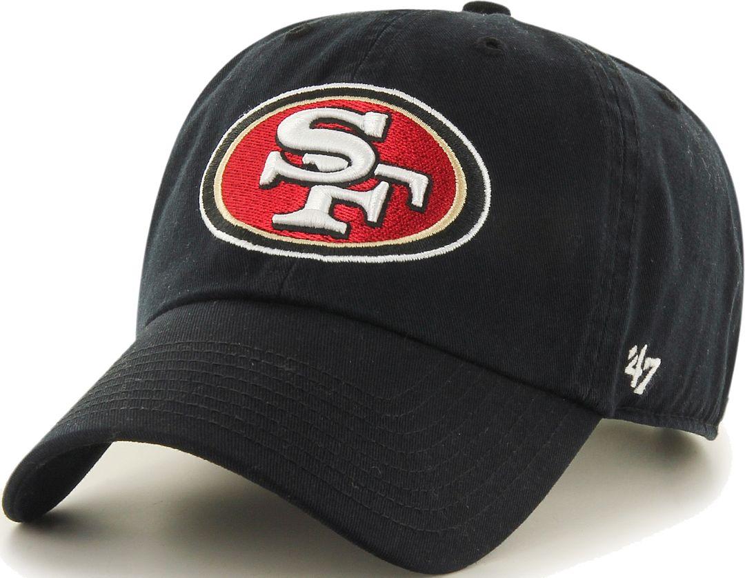 0396c27f '47 Men's San Francisco 49ers Clean Up Black Adjustable Hat