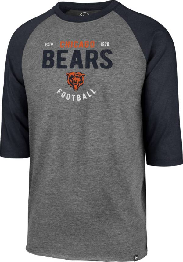 '47 Men's Chicago Bears Club Grey Raglan Shirt product image