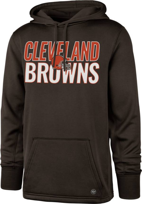 '47 Men's Cleveland Browns Tech Fleece Brown Performance Hoodie product image