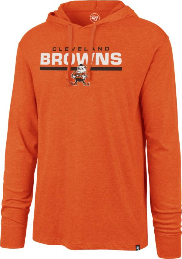 '47 Men's Cleveland Browns Club Legacy Orange Hooded Long Sleeve Shirt product image