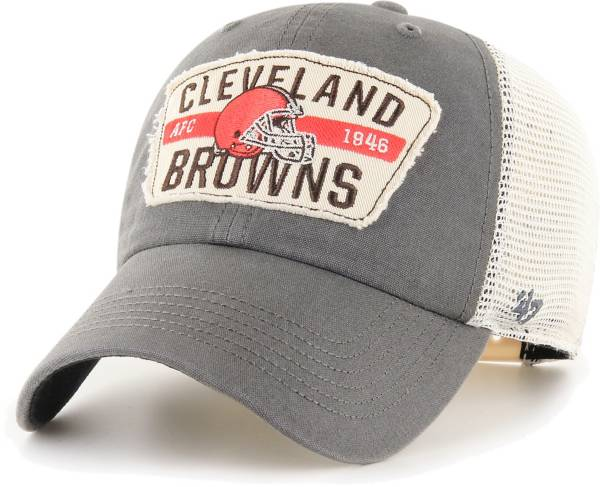 '47 Men's Cleveland Browns Crawford Clean Up Adjustable Grey Hat product image