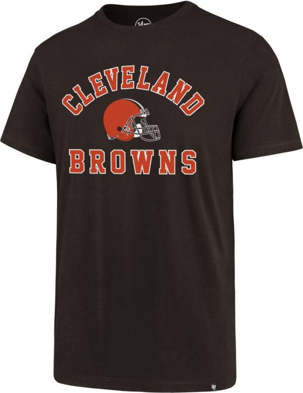 '47 Men's Cleveland Browns Arch Rival Brown T-Shirt product image