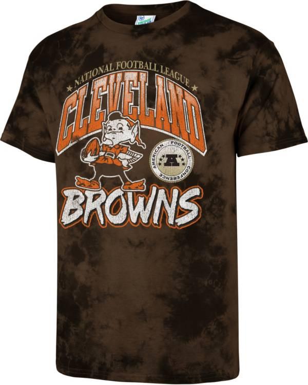 '47 Men's Cleveland Browns Tubular Tie Dye T-Shirt product image